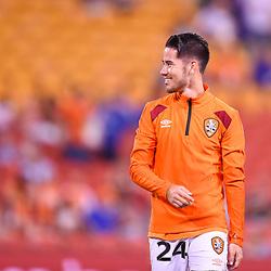 BRISBANE, AUSTRALIA - MARCH 3: Connor O'Toole of the Roar smiles during the Round 22 Hyundai A-League match between Brisbane Roar and Adelaide United on March 3, 2018 in Brisbane, Australia. (Photo by Patrick Kearney / Brisbane Roar FC)