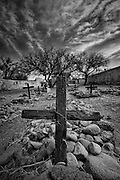 One of the old burial plots in the back of the mission at Tumacacori National Historic Site in southern Arizona.