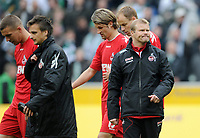 Fotball<br /> Tyskland<br /> 15.04.20212<br /> Foto: Witters/Digitalsport<br /> NORWAY ONLY<br /> <br /> v.l. Lukas Podolski, Slawomir Peszko, Martin Lanig, Kevin McKenna, Trainer Frank Schaefer (Koeln)<br /> <br /> Bundesliga, Borussia Mönchengladbach - 1. FC Köln 3:0
