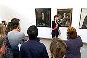 Nederland, The netherlands, Arnhem, 18-2-2017Expositie vanportretten van nederlandse schilders in de 20e eeuw in het gemeentelijk museum voor moderne kunst..Pijke Koch en Karel WillinkFOTO: FLIP FRANSSEN