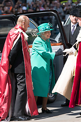 May 24, 2017 - London, London, UK - HRH QUEEN ELIZABETH II and the DUKE OF EDINBURGH attends service to mark the of the Order of the British Empire at St Paul's Cathedral. London, UK (Credit Image: © Ray Tang via ZUMA Wire)