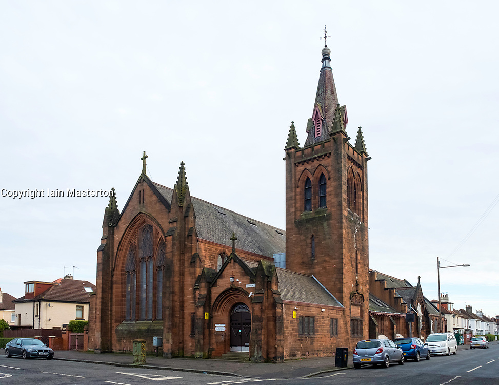 View of Govanhill Workspace centre in a former church which houses office of local MSP Nicola Sturgeon in Govanhill, Glasgow, United Kingdom