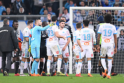 March 18, 2018 - Marseille, France - 01 ANTHONY LOPES (OL) - 08 MORGAN SANSON (OM) - COLERE - ALTERCATION (Credit Image: © Panoramic via ZUMA Press)