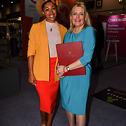 Speaker Mims Davies, Minister for Sport and Civil Society, Department for Culture Media and Sport and Dr Zoe Williams at Elevate 2019 on 8 May 2019, at Excel London, UK.