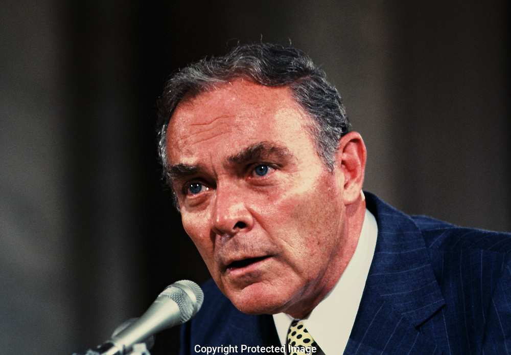 Washington, DC 1978/08/02 General Alexander Haig jr testifies at a hearing of the Senate Foreign Relations Committee on the Salt II agreement.<br /><br />Photo by Dennis Brack