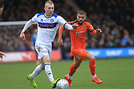 Stephen Dooley brings the ball forward during the EFL Sky Bet League 1 match between Luton Town and Rochdale at Kenilworth Road, Luton, England on 2 March 2019.