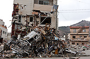 The effects of the tsunami that struck north east Japan on March 11th Kamaishi,, Iwate, Japan. March 17th 2011