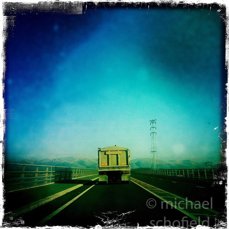 Clackmannan Bridge..Hipstamatic images taken on an Apple iPhone..©Michael Schofield.