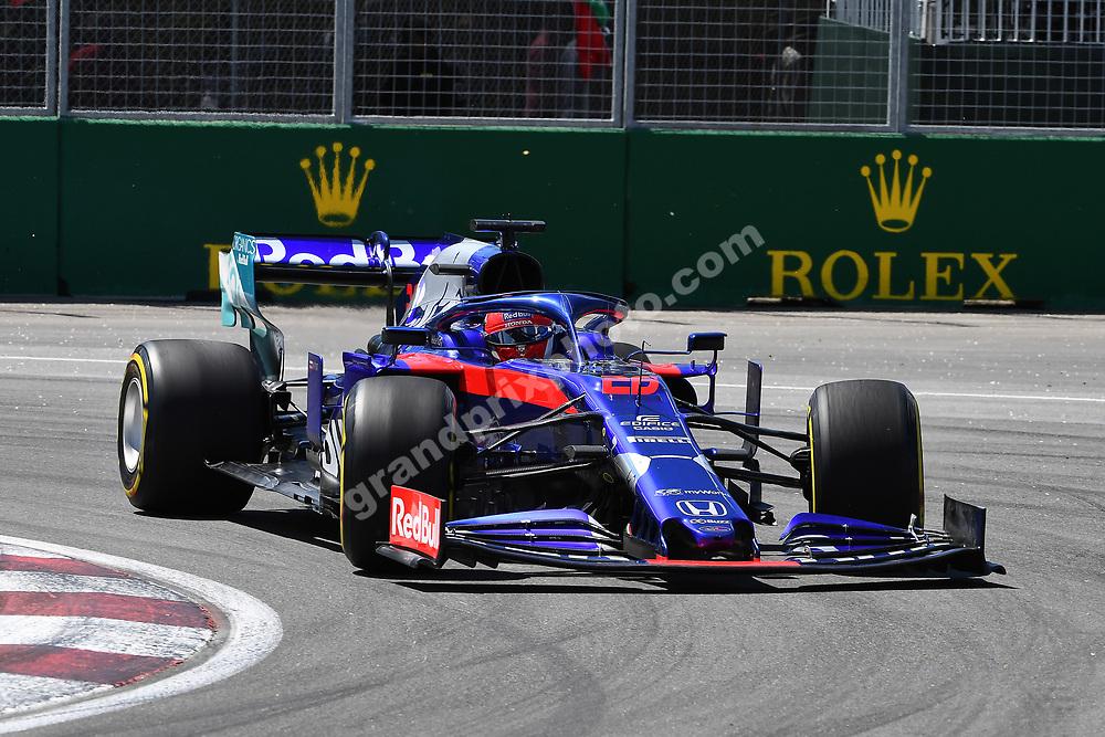 Daniil Kvyat (Toro Rosso-Honda) during practice for the 2019 Canadian Grand Prix in Montreal. Photo: Grand Prix Photo