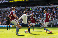 Football - 2021 / 2022 Premier League - Tottenham Hotspur vs Aston Villa - Tottenham Hotspur Stadium - Sunday 3rd October 2021<br /> <br /> <br /> Son Heung-Min (Tottenham Hotspur) prepares to shoot at goal <br /> <br /> COLORSPORT/DANIEL BEARHAM