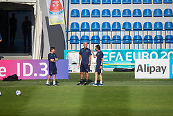 BAKU, AZERBAIJAN - Tuesday, June 8, 2021: Switzerland's head coach Vladimir Petković (C) during a training session at the Dalga Arena on day one of their UEFA Euro 2020 tournament. (Pic by David Rawcliffe/Propaganda)