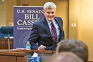 Republican Louisiana Senator Bill Cassidy at a townhall meeting in Covington Louisiana. Cassidy didnt answer questions about the new Republican health care bill know as Trump-Care, instead he kept talking about the health care plan he came up with.
