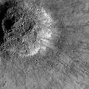 A very young impact crater in Balmer basin.