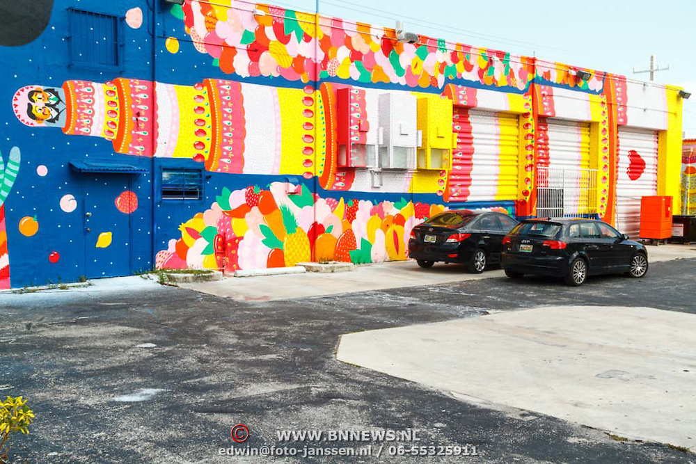 Vakantie 2015, Miami, muurschilderingen in de kunstenaarswijk Wynwood Block beter bekend als de Wynwood Walls