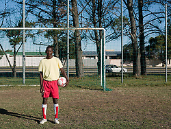 Aug. 22, 2012 - Portrait of a footballer (Credit Image: © Image Source/ZUMAPRESS.com)