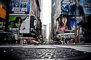 Close-up on a manhole in Times Square, Manhattan, New York, 2009.