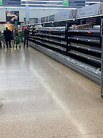 food at Asda Bodmin confacted from people panic buying  photo Mark Campbell
