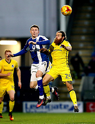 Stuart Sinclair of Bristol Rovers challenges Dion Donohue of Chesterfield to a header - Mandatory by-line: Robbie Stephenson/JMP - 26/11/2016 - FOOTBALL - The Proact Stadium - Chesterfield, England - Chesterfield v Bristol Rovers - Sky Bet League One