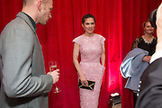 EVAN JONES; HAYLEY ATWELL, Pre -drinks at the St. Martin's Lane Hotel before a performance of the English National Ballet's Nutcracker: London Coliseum.12 December 2013