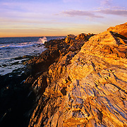 Rocky Coast on Prout's Neck at dawn. Scarborough, Maine