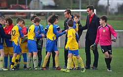 07 April 2018. Blaringhem, Pas de Calais, France.<br /> Phase District Festival U13 Pitch - Festival Foot U13. A tournament of 8 teams.<br /> US Montreuil U13a v Cucq.<br /> Montreuil a attitré 0-0.<br /> Photo©; Charlie Varley/varleypix.com