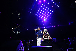 LOS ANGELES, CA - JANUARY 21 Ozuna performs on stage during Calibash 2017 at the Staples Center in downtown Los Angeles on Saturday night 2016 January 21. Byline, credit, TV usage, web usage or linkback must read SILVEXPHOTO.COM. Failure to byline correctly will incur double the agreed fee. Tel: +1 714 504 6870.