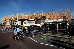 """A general view of the stadium before the Premier League match at Molineux, Wolverhampton. PRESS ASSOCIATION Photo. Picture date: Saturday September 29, 2018. See PA story SOCCER Wolves. Photo credit should read: Nick Potts/PA Wire. RESTRICTIONS: EDITORIAL USE ONLY No use with unauthorised audio, video, data, fixture lists, club/league logos or """"live"""" services. Online in-match use limited to 120 images, no video emulation. No use in betting, games or single club/league/player publications."""