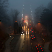 The Lions Gate Bridge on a foggy morning. <br /> Photo: © Rod Mountain<br /> <br /> http://bit.ly/LionsGateInTheFog<br /> @rod_mountain<br /> https://twitter.com/rod_mountain<br /> <br /> http://www.rodmountain.com<br /> <br /> https://en.wikipedia.org/wiki/Lions_Gate_Bridge<br /> <br /> https://en.wikipedia.org/wiki/Stanley_Park