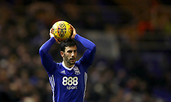 Birmingham City's Maxime Colin takes a throw-in