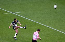 Bristol Rugby Fly-Half Callum Sheedy kicks a penalty - Mandatory byline: Robbie Stephenson/JMP - 25/05/2016 - RUGBY UNION - Ashton Gate Stadium - Bristol, England - Bristol Rugby v Doncaster Knights - Greene King IPA Championship Play Off FINAL 2nd Leg.