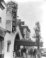 1936 Brown Derby On Vine St.