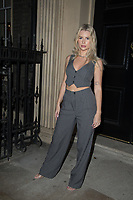 Lottie Moss, arrives for a small dinner to celebrate the partnership between herself and social networking app Victoria, Portland Square, London. 07.10.20
