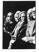 Anne Bass, Ivana Trump, Nan Kempner and Jerome Zipkin. Carolyne Roehme fashion show. Plaza. NY. 4 March 1990. © Copyright Photograph by Dafydd Jones 66 Stockwell Park Rd. London SW9 0DA Tel 020 7733 0108 www.dafjones.com