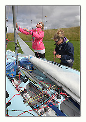 470 Class European Championships Largs - Day 3.Brighter conditions with more wind...IRL83, Diana KISSANE, Saskia TIDEY, Royal Irish Yacht Club