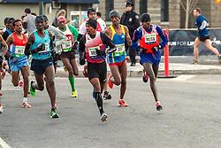 lead pack of elite men, Korir, Meb, Mutai
