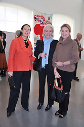 Left to right, LYNN ROTHMAN, the HON.LAVINIA BOLTON and LADY MARY-GAYE CURZON at the ASAP (African Solutions to African Problems) Lunch held at the Louise T Blouin Foundation, 3 Olaf Street, London W11 on 15th May 2012.