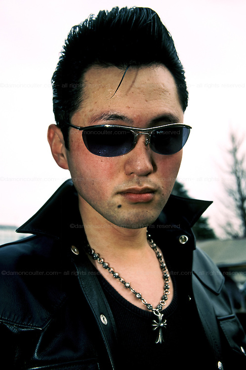 Portrait of a Rockabilly dancer in Yoyogi park in Harajuku, Tokyo, Japan. October 2005