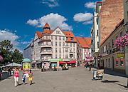 Zielona Góra (woj. lubuskie), 20.07.2013. Centrum miasta.