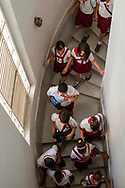 Cuban students explore the Museum of the Revolution (Museo de la Revolución). The building, inaugurated in 1920, had served as the Presidential Palace until the Cuban Revolution. (December 4, 2014)
