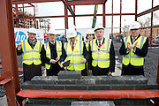 03/02/2014 HP Ireland announced the formal commencement of the construction phase of its new 89,000 sq. ft. office building in Ballybrit, Galway, at a ceremony attended by An Taoiseach, Enda Kenny, TD.  The project is expected to be one of the largest construction projects in Galway in recent times, and is likely to create up to 200 construction jobs.  Pictured at the event were:  An Taoiseach Enda Kenny TD . Photo:Andrew Downes.