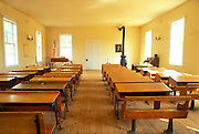 The inside of the Columbia school house, Columbia State Historic Park, Gold Country (Highway 49), California