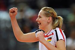 10.10.2010, Bremen Arena, Bremen, GER, Vorbereitung Volleyball WM Frauen 2010, Laenderspiel Deutschland ( GER ) vs. Tuerkei ( TUR ), im Bild Anne Matthes (#10 GER). EXPA Pictures © 2010, PhotoCredit: EXPA/ nph/   Conny Kurth+++++ ATTENTION - OUT OF GER +++++