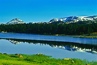 Reflections of the Beartooth Mountains in Little Bear Lake.  Beartooth Plateau, Wyoming.