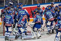 Team KHL Medvescak Zagreb during ice-hockey match between KHL Medvescak Zagreb and HK Acroni Jesenice in 39th Round of EBEL league, on Januar 8, 2012 at Arena Zagreb, Zagreb, Croatia. (Photo By Matic Klansek Velej / Sportida)