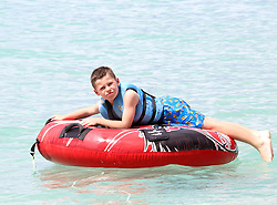 Kai Rooney is pictured enjoying watersports with friends in Barbados. 24 Oct 2018 Pictured: Kai Rooney. Photo credit: Queensofthenorth/MEGA TheMegaAgency.com +1 888 505 6342