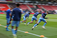 Football - 2020 / 2021 Sky Bet Championship - AFC Bournemouth vs. Coventry City - The Vitality Stadium<br /> <br /> The Coventry players finish there warm up before kick off at the Vitality Stadium (Dean Court) Bournemouth <br /> <br /> COLORSPORT/SHAUN BOGGUST