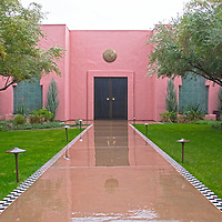 USA, California, Indian Wells. The spa building at the Sands Hotel & Spa.