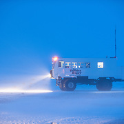 Buggy One prepares to dock at the lodge after a day of exploration. Hudson Bay, Churchill, Manitoba, Canada