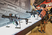 The Sig MPX standThe DSEI (Defence and Security Equipment International) exhibition at the Excel Centre, Docklands, London UK 15 Sept 2015