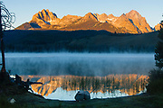 Litttle Redfish Lake, SNRA, Idaho - morning and reflections of Mt. Heyburn from the rising sun